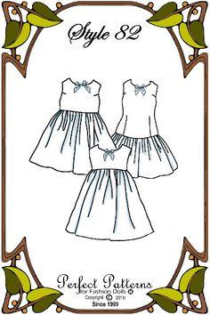 Slips Galore - Perfect Patterns Style No. 82 - Fits 18 Inch Fashion Dolls. $8.10, via Etsy.