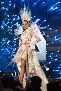 Miss Universe Which African Queen rocked the Best National Costume? See the Belles in their National Costumes & Preliminary Opening Outfits Jennifer Hawkins, Miss Universe 2001, Miss Angola, Miss Nigeria, Miss Universe National Costume, Miss Puerto Rico, Miss Philippines, Miss Vietnam, Barbie Miss