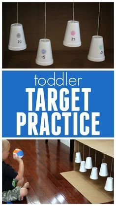 Moving Color Targets Game for Toddlers Toddler Approved !: Moving Color Targets Game for ToddlersMoving Color Targets Game for Toddlers! A fun way for toddlers to work on colors and fine motor skills!: Moving Color Targets Game for Toddlers --Could place Toddler Learning Activities, Infant Activities, Preschool Activities, Kids Learning, Indoor Activities For Toddlers, Olympics Kids Activities, Christmas Toddler Activities, Learning Activities For Toddlers, Diy Toys For Toddlers