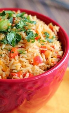 Roasted Red Pepper and Cilantro Lime Rice