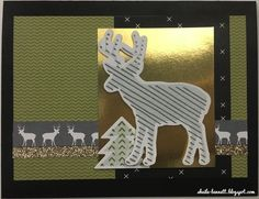 A Christmas deer.  #ctmh #cardmaking #christmascard #heart2heartchallenges