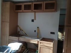 More cabinets in place
