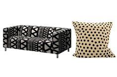 Afrografik: 10 fine fund Ikea: Klippan sofa Afroart pude 295,-