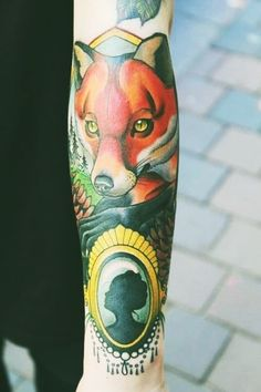 #colour #fox #tattoo