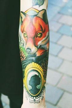 #colour #fox #tattoo