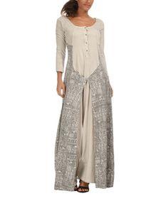 Sand & Light Gray Maxi Dress