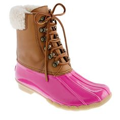 pink sperry winter boots