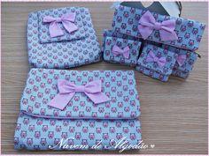 Conjunto de porta-fraldas, porta-toalhitas e bolsinhas para 1 recordações do bébé