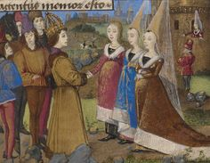 The Emperor Sigismund Arriving in Siena (detail), in The Story of Two Lovers, French, about 1460–70