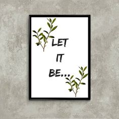 Poster Let It Be...