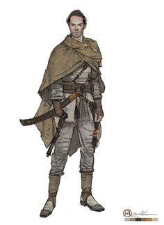 Brian Matyas' Art Blog. Male character design. Concept art.