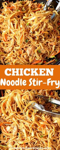 Chicken Stir Fry With Noodles, Fried Noodles Recipe, Stir Fry Noodles, Egg Noodles, Asian Recipes, New Recipes, Quick Recipes, Cooking Recipes, Favorite Recipes