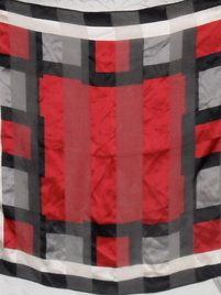 $10 Vintage Silk Scarf Color Block Gray Red Black Square by Casual Corner at https://shopsto.re/items/2408 #accessories #scarves.   Now why can't they have stuff like this at Fred Meyer?
