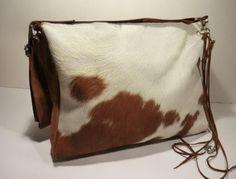 Cow Hair Bag# Bag# Tote#Purse# KUHIE, Kuhfelltasche groß aus braun-weißem Kuhfell von Gmischtesach:  Die Tasche mit der Kuh !! auf DaWanda.com