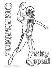coloring pages kids boyscom this site has pages and pages of football and other - Football Color Sheet