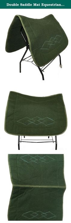 Double Saddle Mat Equestrian Supplies. Features: High cost performance Non-woven fabrics Comfortable riding Keep away from wet environment and blazing sun Exported quality Specifications: Color:army green Material:non-woven fabrics Size:80*120cm Thickness:1cm Weight:560g .