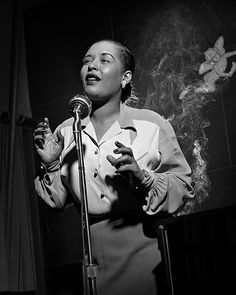 Billie Holiday, 1949 by Herman Leonard
