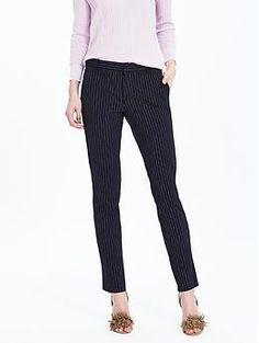 Ryan-Fit Pinstripe Slim-Straight Pant | Banana Republic