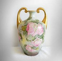 Lenox CAC belleek vase with gold handles - circa 1900