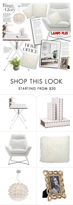 """""""Work Hard: Home Office"""" by vanjazivadinovic ❤ liked on Polyvore featuring interior, interiors, interior design, home, home decor, interior decorating, Nourison, Possini Euro Design, Tiffany & Co. and home office"""