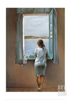 Person at the Window Art Print by Salvador Dalí at Art.com