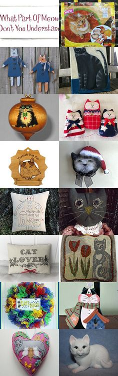 CATS GALORE by Maryann on Etsy--Pinned+with+TreasuryPin.com