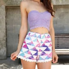 FINAL PRICE !Purple lace bustier ! As shown! Lilac lavender kind of color . Tops Crop Tops