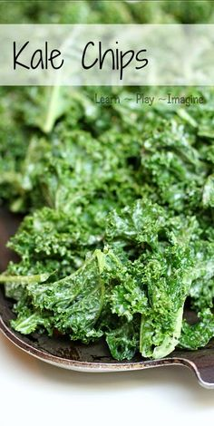 How to make the best kale chips ever.  Seriously, I make two batches of these for my kids, and they are gobbled up within minutes.