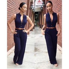 Love the simplicity of this jumpsuit. Swagggggg on point!