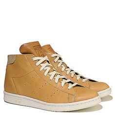 Buy #adidas #StanSmith Mid PC Men's Tan Casual Lace-up #Sneaker Online. Find more men's lace-up, casual, and adidas sneakers at #ShiekhShoes.com