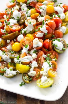 Heirloom Tomato and Blue Cheese Salad