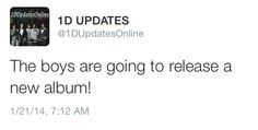 ALBUM NUMBER 4 IS COMING!!! I REPEAT!! ALBUM NUMBER 4 IS COMING!!!<<<< this is true because Louis tweeted that he was exited to start working on the new record