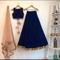 Items similar to Maroon Indian Lehenga Wedding Party wear Designer chaniya choli. Ethnic clothes from India. Made to Order Taffeta Silk lehenga on Etsy Lehenga Choli Designs, Ghagra Choli, Simple Lehenga Choli, Lehenga Modern, Plain Lehenga, Simple Lehanga, Navy Blue Lehenga, Lehnga Dress, Lehenga Blouse