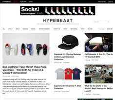 Hypebeast.com - an online lifestyle magazine focusing on young, hip style in design, fashion, and culture