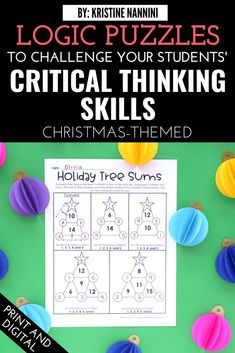 Christmas Logic Games and Brain Busters - Watch your 3rd, 4th, 5th, and 6th grade upper elementary students have so much fun with these puzzles this Christmas season. This download helps students review important math concepts and sharpen their critical thinking skills. Great for independent work or group work in December. *NOW DIGITAL* #UpperElementary #KristineNannini #LogicGames