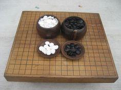 Japanese Go Goban IGO Game wooden table stone stones japan wooden case B