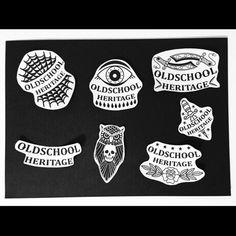 new stickers, for my secret propaganda  #oldschoolheritage #oldschooltattoo #tattoostickers #inoldschoolwetrust