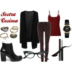 Orphan Black - Cosima Niehaus by barbara-cesario on Polyvore featuring moda, MANGO, Dr. Denim, Steve Madden, Movado and Mudd