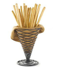 Another great find on #zulily! Black Spiral Appetizer Cone #zulilyfinds