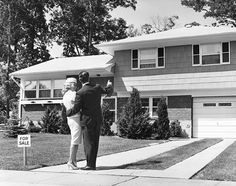 Suburban life in the 1950s