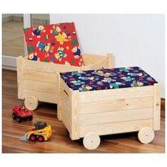 coffre jouet en bois massif brut meubles et rangements par phil creation coffre jouet. Black Bedroom Furniture Sets. Home Design Ideas