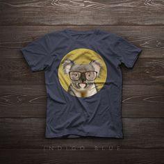 Smiling koala with glasses. koala t-shirt koala by SparaFuori