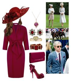 """Attending day 2 of Royal Ascot with her cousin Neil"" by duchessofoxfordshire ❤ liked on Polyvore featuring Elsa Peretti, Mark Broumand, Chico's, Tory Burch, Christian Louboutin and Dolce&Gabbana"