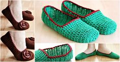 Crochet Simple Slippers