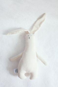 Little White Rabbit handmade organic minimalist by eeniminishop