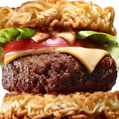 What do you get when you cross a cheeseburger with ramen noodles?