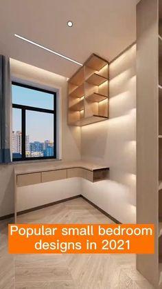 Small Room Design Bedroom, Small House Interior Design, Bedroom Furniture Design, Home Room Design, House Wall Design, Cama Design, Dressing Room Design, Deco Design, Minimalist Bedroom