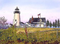 Winter Gallery - Artist Thelma Winter - Pemaquid Point Lighthouse - Maine (Powered by CubeCart) Kitsch, Maine Lighthouses, Lighthouse Art, Canvas Prints, Framed Prints, American Country, Winter Art, Art Pages, I Love Cats