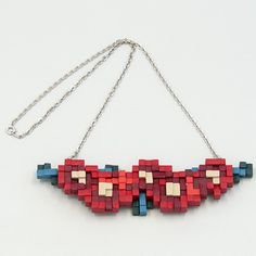 ANREALAGE LOW PIXEL 3D / flower necklace