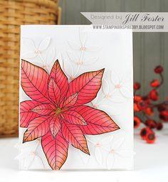 Creative Color Online Class: Day 1 - Jill, Penny Black poinsettia